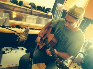 14/09/2013 Recording @Tostadero, Barcelona. Robert Johnson watching...