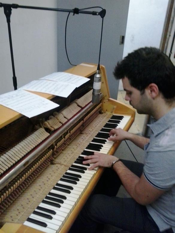 Adrián Fernández García al pianoforte - 14/3/2014