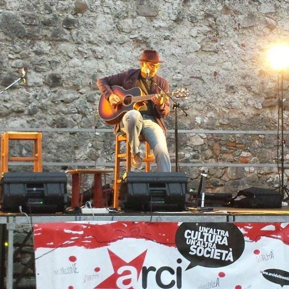 20 settembre 2014 - Castel Beseno, Trento - apertura concerto Gianmaria Testa e Hugo Trova