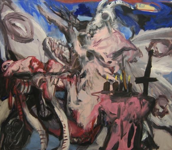 Paolo Dolzan,Der Widdergott, cm160x200, 2014
