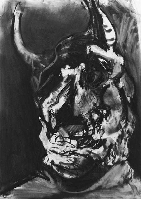 Paolo Dolzan, studio caprone 01, cm70x50, 2014